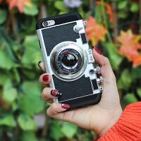 坚达 创意照相机手机壳 硅胶全包挂脖防摔保护套 适用于iphone6/6s 4.7英寸保护套 全屏钢化膜 全屏覆盖钢化膜 保护膜