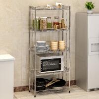 亚思特不锈钢厨房置物架 浴室卫生间角架 卧室落地层架 收纳架子Z655