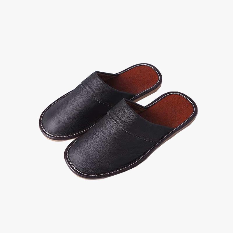 当当优品 牛皮拖鞋 居家拖鞋 保护地板防滑拖鞋真牛皮 好品质 多色可选 牛筋鞋底防滑耐磨