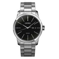 【全国联保】SEIKO精工手表时尚钢带防水太阳能SNE299J1男士手表