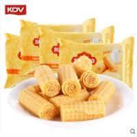 KDV 俄罗斯进口零食 炼乳夹心威化鸡蛋卷160g*2袋 酥性饼干休闲