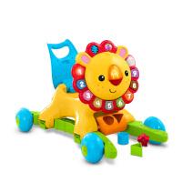 费雪四合一狮子摇摇学步车儿童手推车音乐玩具小宝宝踏行车DLW65