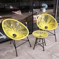 亿家达 户外桌椅藤椅藤编椅子花园庭院休闲室外阳光桌椅户外利来国际ag手机版