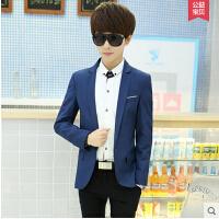 韩版上衣小西装修身衣服青少年小西服秋装外套男夏季 男士休闲西服