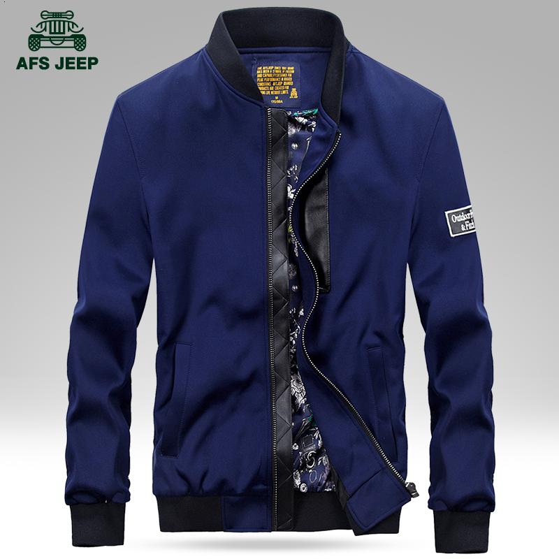 Afs Jeep/战地吉普春季新款男士夹克春装大码韩版棒球领外套上衣【新品惠】满299元立减100元