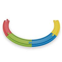 德国HapeE3804彩虹轨道扩展包儿童早教火车轨道配件玩具