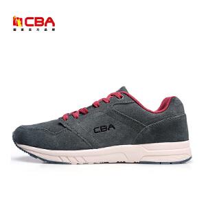 CBA男子休闲鞋正品春秋季男款反绒皮休闲鞋男士运动休闲跑步鞋