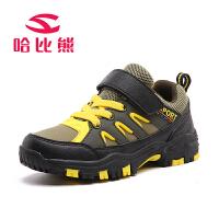 哈比熊2017童鞋男童鞋春秋季儿童防滑运动鞋子户外儿童运动鞋登山鞋