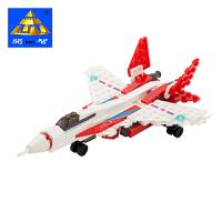 大贸商 开智儿童积木玩具城市系列巡逻机儿童立体模型塑料拼插拼装积木