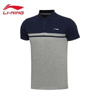 李宁男子运动生活系列短袖POLO衫运动服APLL133