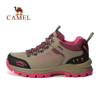 camel骆驼户外徒步鞋 女款舒适系带防滑徒步鞋