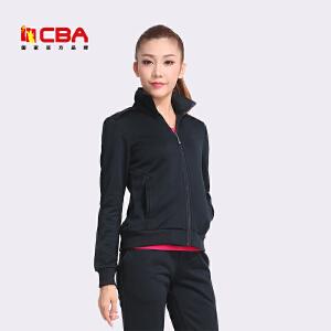 【618狂嗨继续】CBA女子开衫卫衣 女款纯色运动休闲外套舒适透气修身针织卫衣