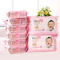 亲亲我 婴儿手口湿巾 宝宝湿纸巾 婴儿手口柔湿巾80抽2包+25抽6包
