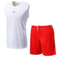 足球训练服etto英途足篮排球速干通用训练服运动无袖短裤套装