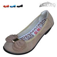 XQ/欣清正品浅口坡跟老北京休闲蝴蝶结时尚帆布单鞋 轻便耐磨防滑