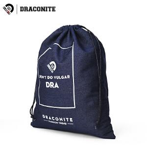 DRACONITE牛仔布包装袋男女实用多功能大容量抽绳束口收纳袋