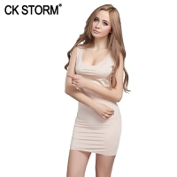 CK STORM 女士睡衣 商场同款性感诱惑质感舒适无痕睡衣 中长款睡裙 高端居家服