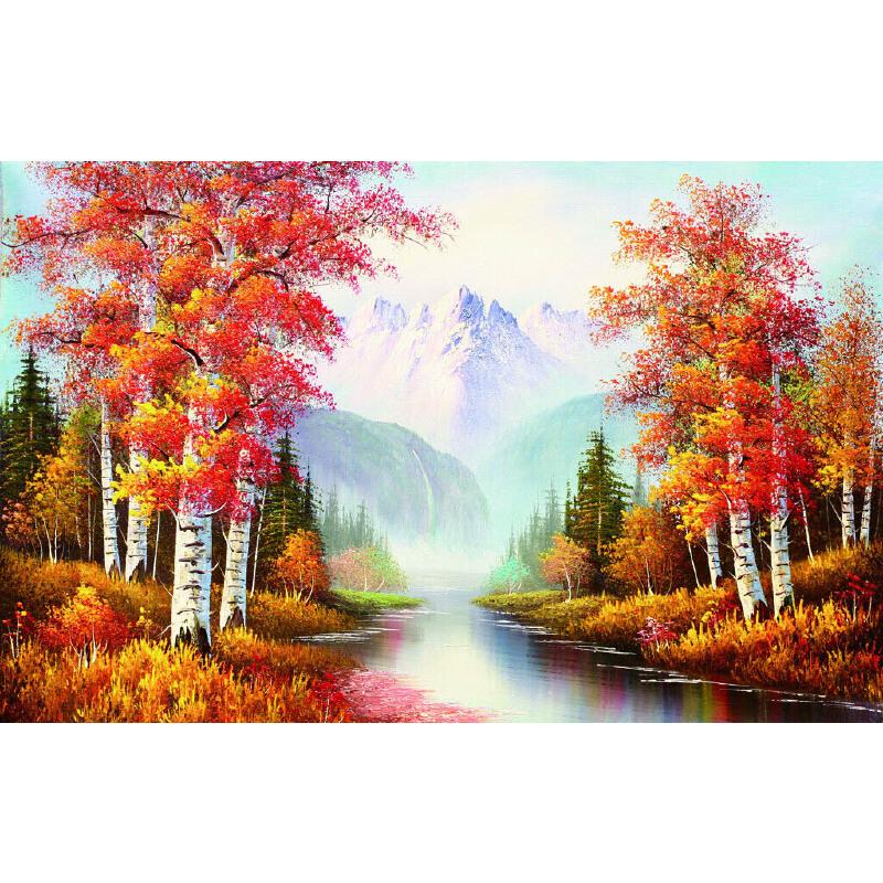 1000片木质拼图定制500手绘油画风景家居装饰画
