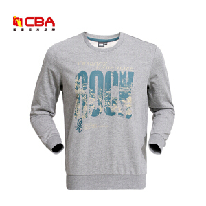 CBA男子运动卫衣春秋款透气吸汗套头衫男休闲服运动服装