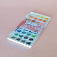 台湾雄狮36色透明固体水彩套装 写生粉饼固体颜料