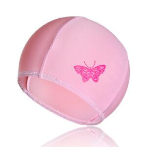 弈姿EZI新款设计游泳帽 儿童泳帽 女童蝴蝶印花泳帽 12004a