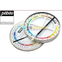 法国PEBEO贝碧欧水彩颜料  12色 24色  固体块状水彩颜料 圆铁盒套装