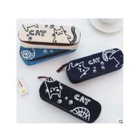 陆捌壹肆 包邮 可爱创意卡通笔袋/笔盒 脚印猫咪文具盒 学生个性文具袋 收纳包 (一个装)