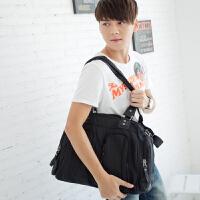 吉野新款防水包尼龙包男士大包包手提包单肩包斜挎包多功能韩版男包休闲运动包商务旅行包