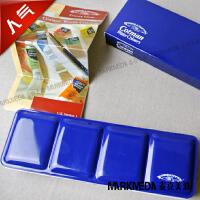 温莎牛顿歌文水彩12色固体套装 453 歌文蓝铁盒水彩 新增24色套装啦蓝色纸盒包装,内是黑色铁盒