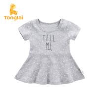 童泰夏季新款女童裙子外出连衣裙女宝宝新衣婴儿卡通韩版连身裙