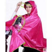 韩国电瓶车大帽檐头盔式自行车雨披 电动车摩托车雨衣单人大帽檐头盔式自行车雨披