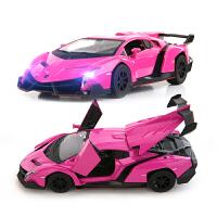 【当当自营】美致模型1:32兰博基尼毒药敞篷版儿童汽车玩具25083粉红色