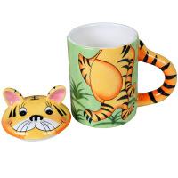 大贸商卡通动物马克杯 带盖杯卡通水杯创意陶瓷杯子礼物HC00157