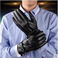 手套 男士皮手套 骑行保暖手套 防水防风加绒加厚韩版手套男骑车摩托车皮手套