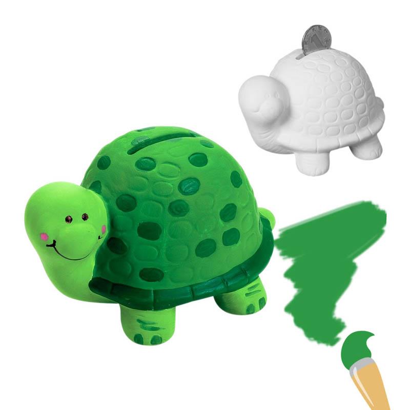 大贸商 自绘乌龟 动物 陶瓷储蓄罐 diy手工画 白模上色yc00009
