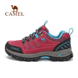 camel骆驼户外男女舒适徒步鞋 情侣款透气减震徒步鞋