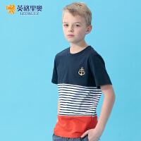 英格里奥童装夏装男童圆领短袖T恤儿童T恤夏款9522