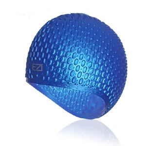 弈姿EZI潜水 游泳必备装备 水滴凹凸 硅胶游泳帽 19003