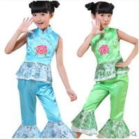 新款时尚个性儿童演出服女童民族舞秧歌舞古典舞表演服装幼儿园舞蹈服