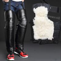 云博电动摩托车护膝 羊毛加厚骑车挡风冬季保暖护膝护腿护具