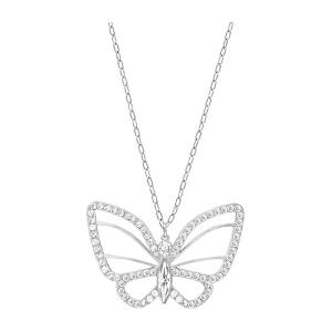 Swarovski/施华洛世奇 女士白金色蝴蝶吊坠项链 5118282 支持礼品卡支付