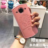 美图M6手机壳T8皮质保护套全包硅胶M4S/V4S挂脖绳个性创意韩国潮