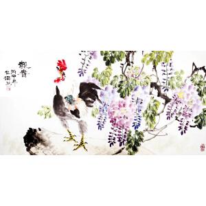 中国工笔画协会会员 夏仕海 《报春》