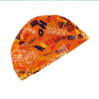 新款儿童时尚针织泳帽中小童卡通印花男女童通用游泳帽
