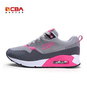 CBA女子慢跑鞋 女士气垫减震休闲跑鞋女款时尚增高运动休闲鞋