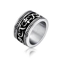 男士钛钢戒指韩版首饰品尾戒男生宽食指戒指环