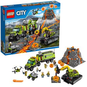 [当当自营]LEGO 乐高 City城市系列 火山探险基地 积木拼插儿童益智玩具60124