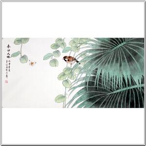 中国国画家协会会员于宗辰《春回大地》