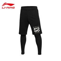 李宁男子BAD FIVE篮球卫裤运动裤平口男运动服AKLL653