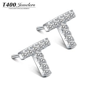 T400日韩国银饰耳钉女 时尚简约耳环个性学生甜美耳坠防过敏时髦T  8595